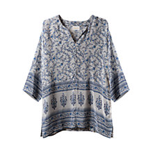 Buy East Virginia Silk Tunic Top, Smoke Online at johnlewis.com