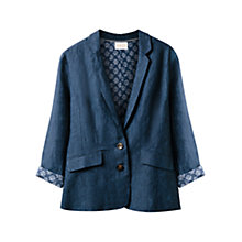 Buy East Linen Dye Jacket, Indigo Online at johnlewis.com