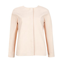 Buy Ted Baker Cropped Cocoon Jacket, Pale Pink Online at johnlewis.com