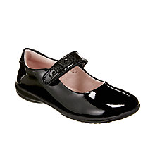 Buy Lelli Kelly Children's Classic Doll Rip-Tape School Shoes, Black Patent Online at johnlewis.com