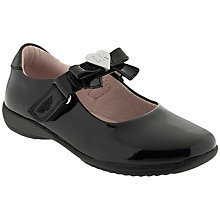 Buy Lelli Kelly Children's Patent Rachel Rip-Tape School Shoes, Black Online at johnlewis.com