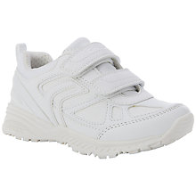 Buy Geox J Bernie Rip-Tape Trainers, White Online at johnlewis.com