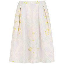 Buy Ted Baker Linear Nouveau Midi Skirt, Gold Online at johnlewis.com