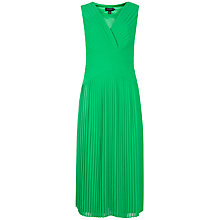 Buy Ted Baker Valanci Pleated Midi Dress, Dark Green Online at johnlewis.com