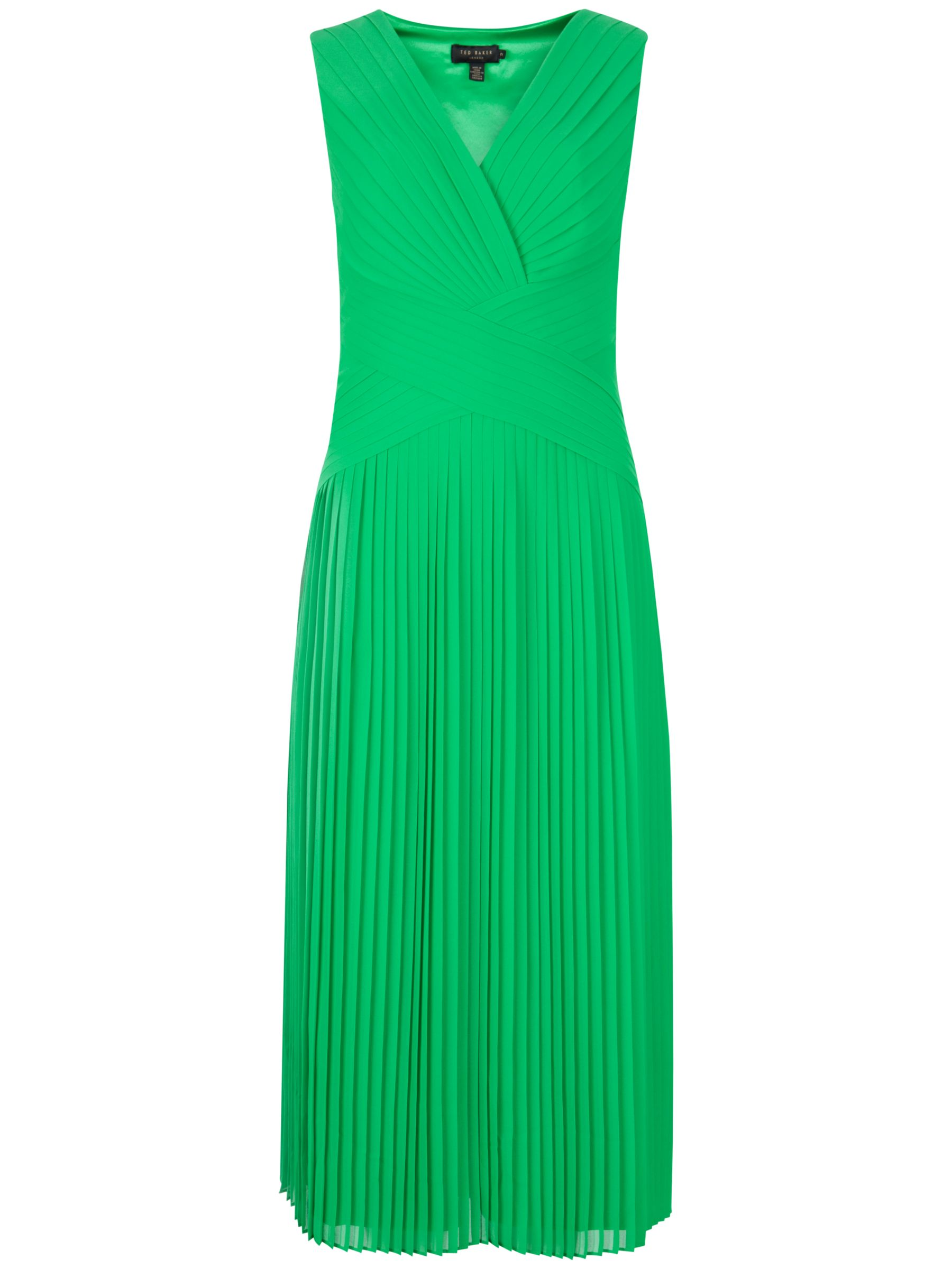 ted baker midi pleat panel dress dark green, ted, baker, midi, pleat, panel, dress, dark, green, ted baker, 2|0|1|3|5|4, women, womens dresses, new in clothing, fashion magazine, womenswear, men, brands l-z, 1915489
