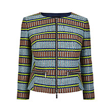 Buy Karen Millen Basket Weave Jacket, Multi Online at johnlewis.com
