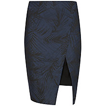 Buy Ted Baker Palm Jacquard Skirt, Black Online at johnlewis.com
