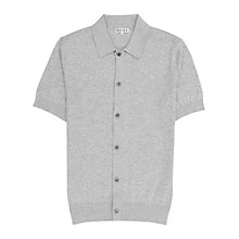 Buy Reiss Clinton Full Button Polo Shirt, Grey Online at johnlewis.com