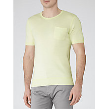 Buy Reiss Mobey Short Sleeve Jumper, Citrus Online at johnlewis.com