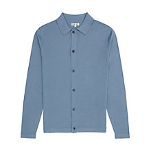 Buy Reiss Pledge Point Collar Cardigan, Airforce Blue Online at johnlewis.com