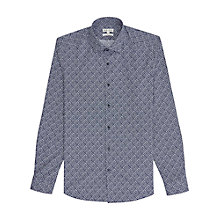 Buy Reiss Clement Patterned Slim Fit Shirt, Blue Online at johnlewis.com
