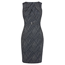 Buy Karen Millen Cross Hatch Jacquard Pencil Dress, Blue/Multi Online at johnlewis.com