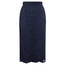 Buy Whistles Camilla Lace Pencil Skirt, Navy Online at johnlewis.com