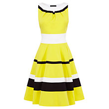 Buy Karen Millen 50s Style Skirt Dress, Yellow/Multi Online at johnlewis.com