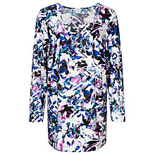 Buy Windsmoor Lily Print Tunic Top, Multi/White Online at johnlewis.com