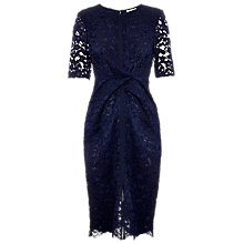 Buy Whistles Camilla Lace Dress, Navy Online at johnlewis.com
