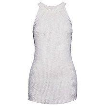 Buy Whistles Linen Blend Knitted Vest Top, White Online at johnlewis.com
