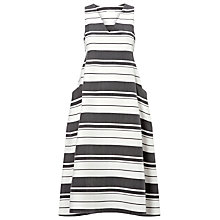 Buy Whistles Hayley Stripe Dress, Black/White Online at johnlewis.com