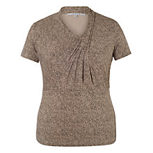 Buy Chesca Tuck Neckline Print Top, Beige Online at johnlewis.com