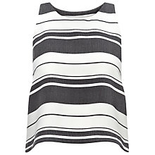 Buy Whistles Hayley Stripe Top, Black/White Online at johnlewis.com