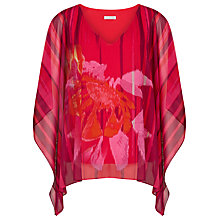 Buy Windsmoor Printed Chiffon Top, Bright Red Online at johnlewis.com