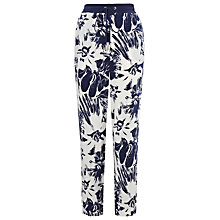 Buy Whistles Helena Bloomsbury Trousers, Blue/Multi Online at johnlewis.com