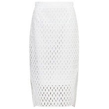 Buy Whistles Lekki Broderie Pencil Skirt, White Online at johnlewis.com
