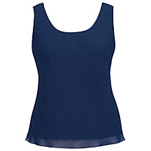 Buy Chesca Chiffon Camisole, Blue Online at johnlewis.com