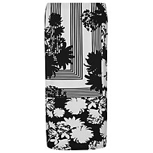 Buy Windsmoor Mono Print Jersey Skirt, Black / White Online at johnlewis.com