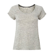Buy White Stuff Linen Tee, Grey Marl Online at johnlewis.com
