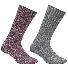 Buy John Lewis Slub Boot Socks, Pack of 2 Online at johnlewis.com