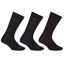 Buy John Lewis Multi Chevron Socks, Pack of 3, Navy Online at johnlewis.com