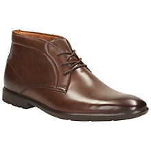 Buy Clarks Gosworth Hi Leather Boots Online at johnlewis.com