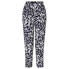 Buy John Lewis Capsule Collection Fern Print Trousers, Navy/White Online at johnlewis.com