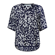 Buy John Lewis Capsule Collection Fern Print Top, Navy/White Online at johnlewis.com