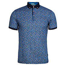 Buy Ted Baker Flowbo Floral Print Polo Shirt, Blue Online at johnlewis.com