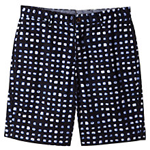 Buy Jigsaw Painted Check Shorts, Indigo Online at johnlewis.com