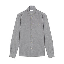 Buy Jigsaw Chambray Spot Print Slim Fit Shirt, Grey Online at johnlewis.com