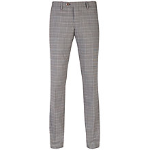 Buy Ted Baker Havtro Check Suit Trousers, Natural Online at johnlewis.com