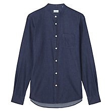 Buy Jigsaw Slim Denim Grandad Shirt, Denim Online at johnlewis.com