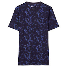Buy Jigsaw Splash Print T-Shirt, Indigo Online at johnlewis.com