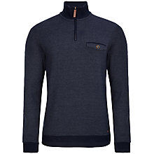 Buy Ted Baker Haftop Funnel Neck Top, Navy Online at johnlewis.com