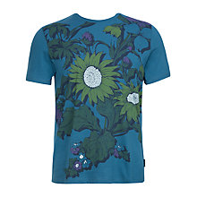 Buy Ted Baker Heanor Graphic Print T-Shirt, Mid-Blue Online at johnlewis.com