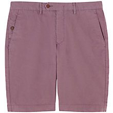 Buy Jigsaw Cotton Twill Shorts, Washed Purple Online at johnlewis.com