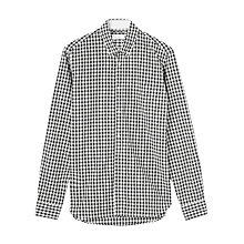 Buy Jigsaw Gingham Slim Fit Shirt, Black/White Online at johnlewis.com
