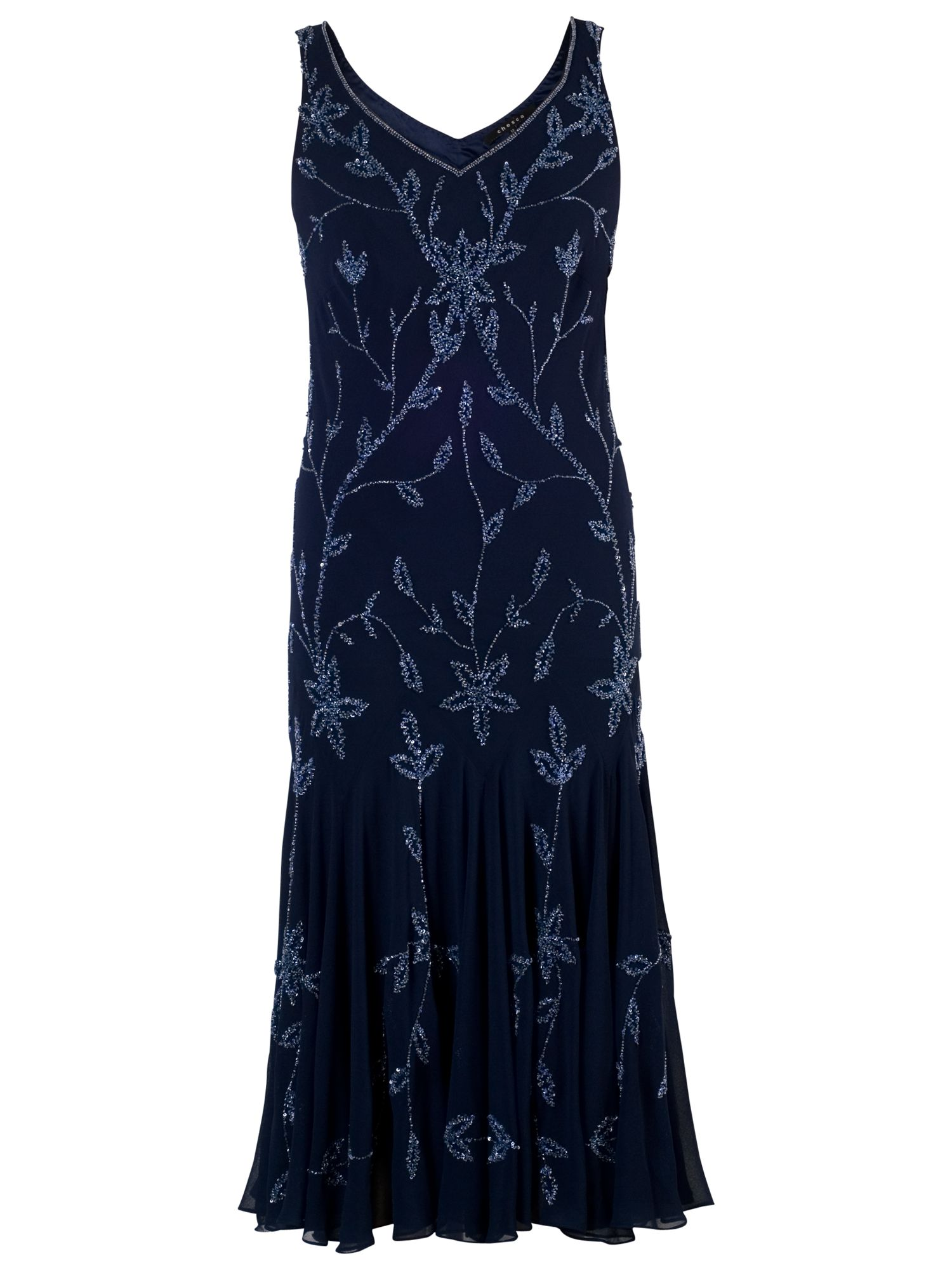 chesca allover bead dress navy/lilac, chesca, allover, bead, dress, navy/lilac, 12|16|18|20|14|24|22, women, plus size, womens dresses, new in clothing, 1931305
