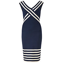 Buy Gina Bacconi Engineered Stripe Dress, Navy Online at johnlewis.com