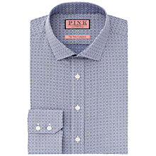 Buy Thomas Pink Bartlett Textured Slim Fit Shirt, Navy/White Online at johnlewis.com