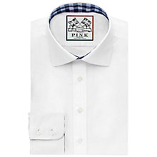 Buy Thomas Pink Plato Plain Classic Fit Shirt, White/Blue Online at johnlewis.com