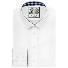 Buy Thomas Pink Plato Plain Super Slim Fit Shirt, White/Blue Online at johnlewis.com